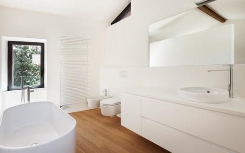 Badkamer behangen for Renovlies ervaring