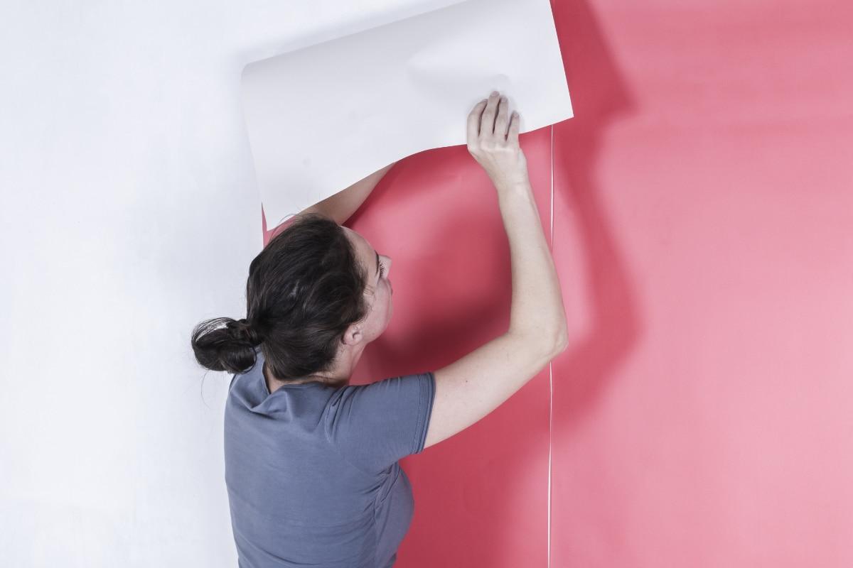 behang effen kleur