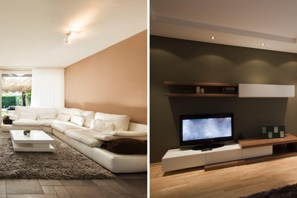 behangen woonkamer voorbeelden
