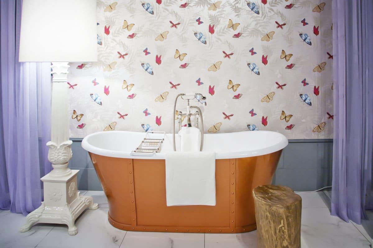 behangpapier badkamer