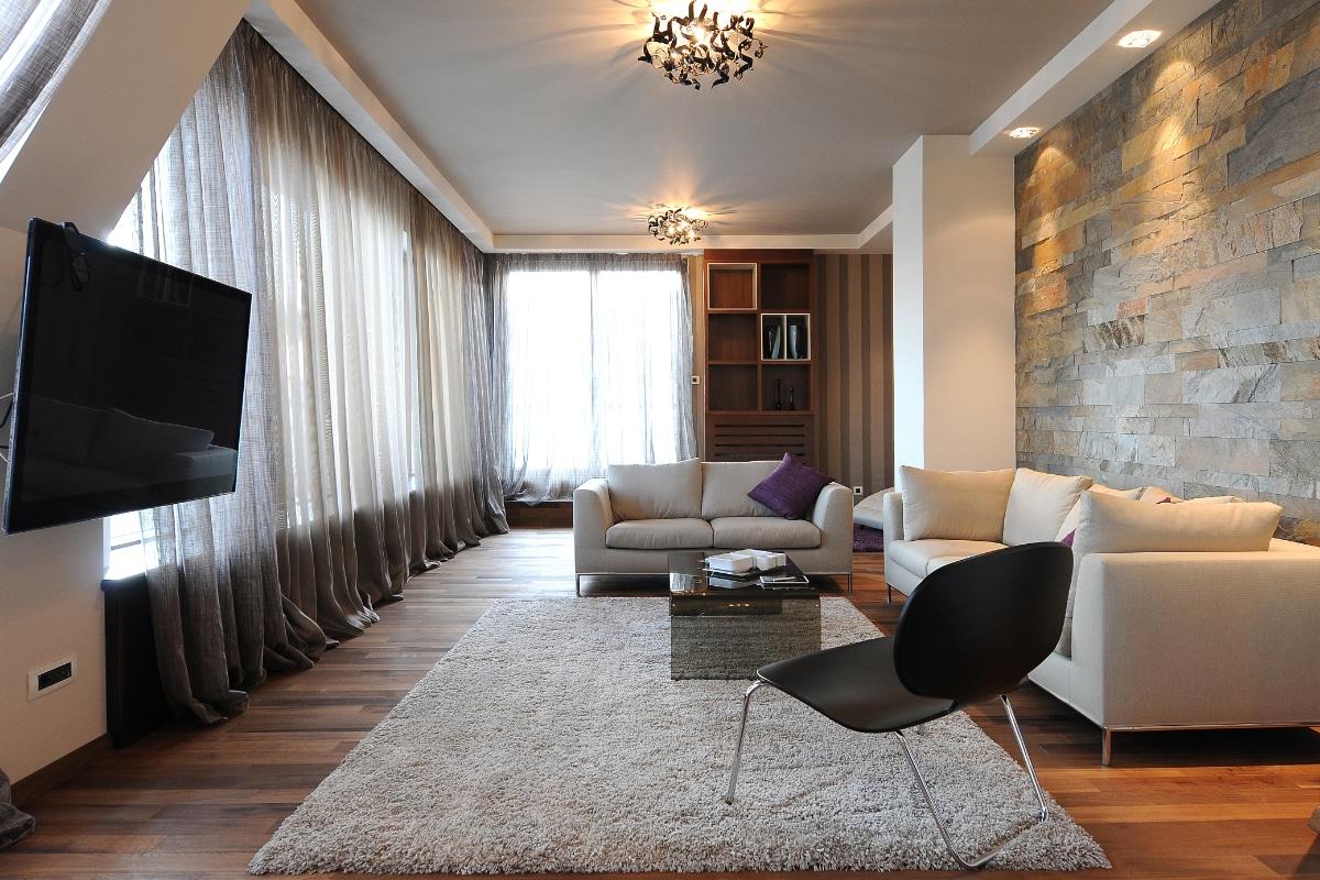 behangpapier woonkamer combinatie