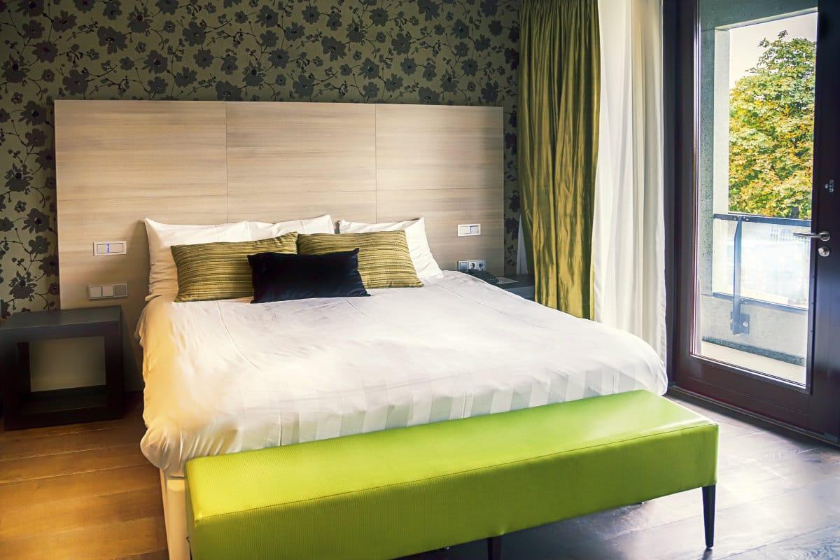 landelijk behang slaapkamer