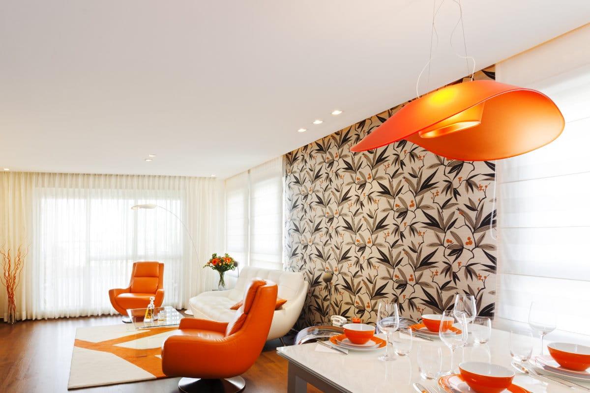 landelijk behang woonkamer
